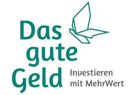 """Logo """"Das gute Geld - Investieren mit MehrWert"""""""